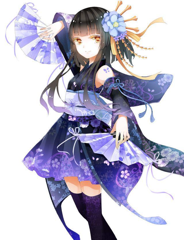 Best 25+ Anime Girl Kimono Ideas On Pinterest