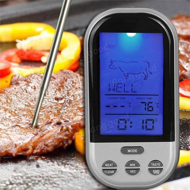Wireless Remote Control Food Meat Outdoor BBQ Thermometer Home Kitchen Cooking Oven Thermometer at Banggood