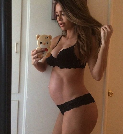 Model Sarah Stage didn't quit her fitness regimen when she got pregnant, either.
