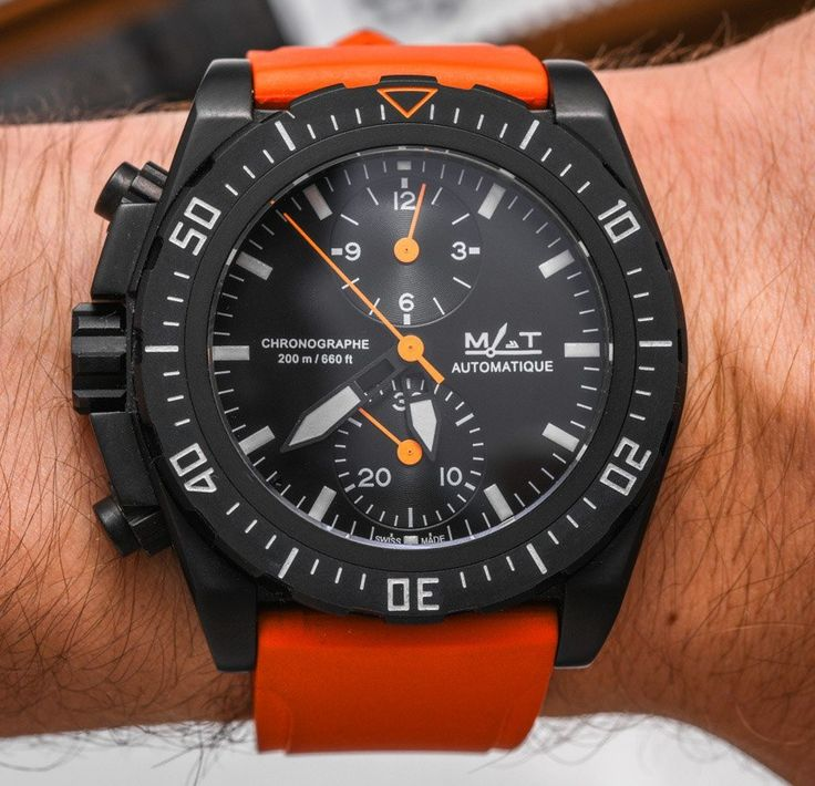 """MAT AG5CHL French Special Forces Diver's Chronograph Watch Review -full review, video, photo gallery on aBlogtoWatch """"Until Baselworld 2015, I had not heard about Paris-based French brand MAT Watches. As such, it was in the busy little town of Basel that I met the founder of the company and first saw some of their watches, among them the MAT AG5CHL. I seem to be on a roll when it comes to watches with unfathomable model names, but as long as the product behind it is as great as it is…"""