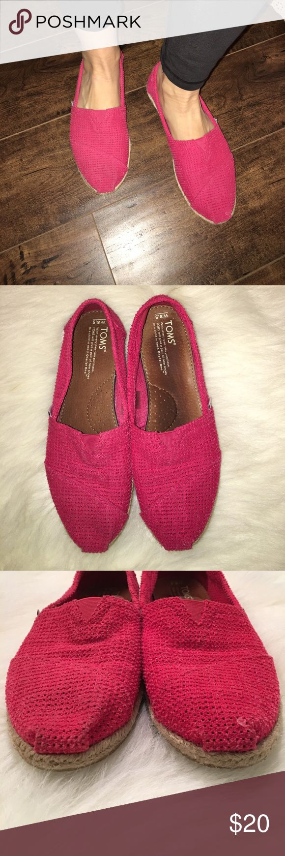 Pink Toms Good used condition. Minor wear. Smoke free and pet free home. Toms Shoes Flats & Loafers