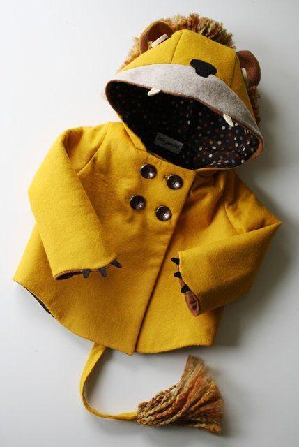 So freakin cute!: Lion Coat, Stuff, Lion Jacket, Ferocious Felt, My Children, Baby Lion, Felt Lion, Kids, Coats