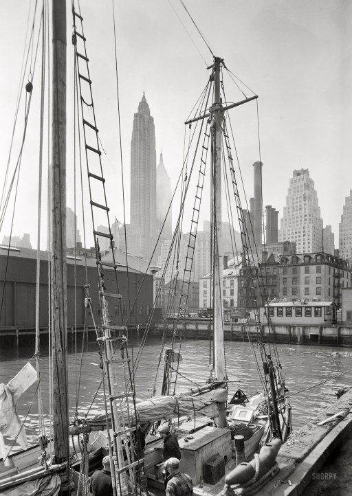 177 best old new york images on pinterest new york city for Fishing boats nyc