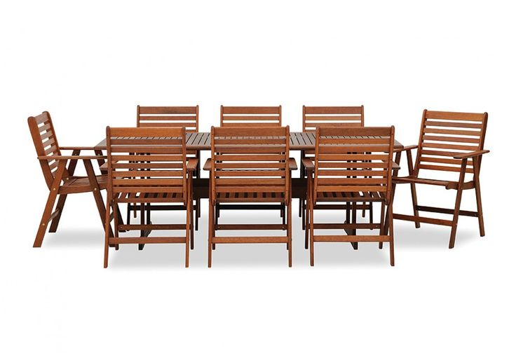Kimberly 9 Piece Setting. Outdoor setting