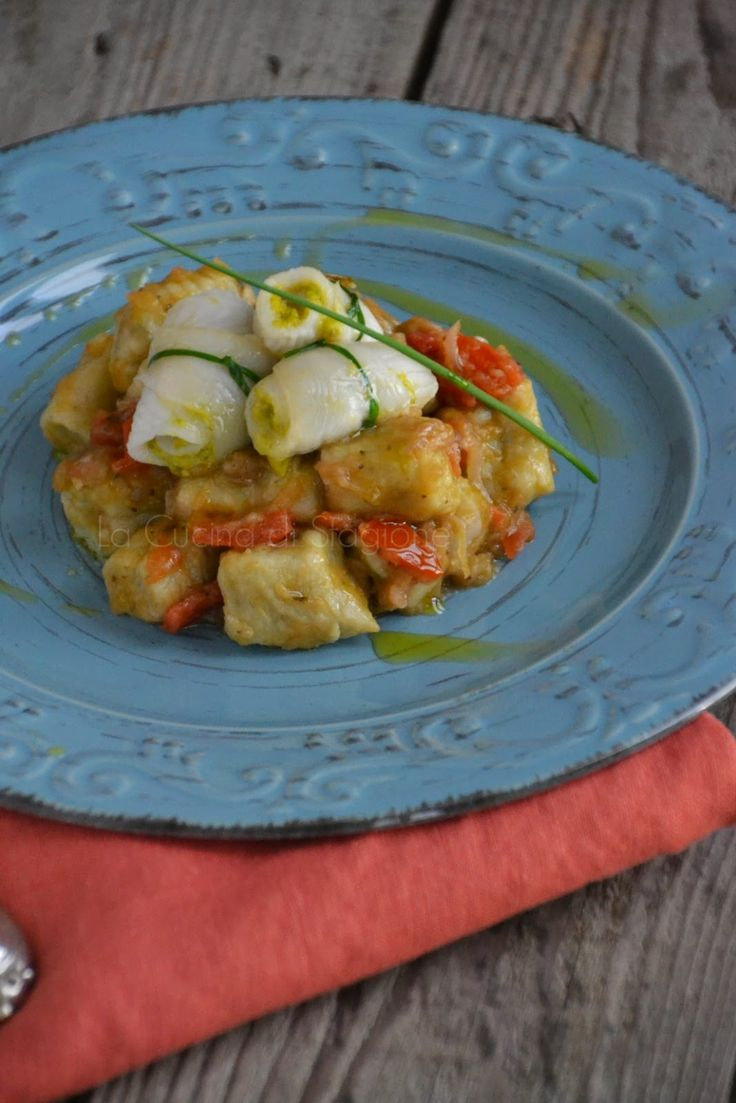 La Cucina di Stagione: Gnocchi di melanzane con sogliola ai pistacchi e miele
