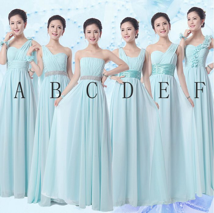 New Long Chiffon Bridesmaid Dresses Sweetheart Dress Formal