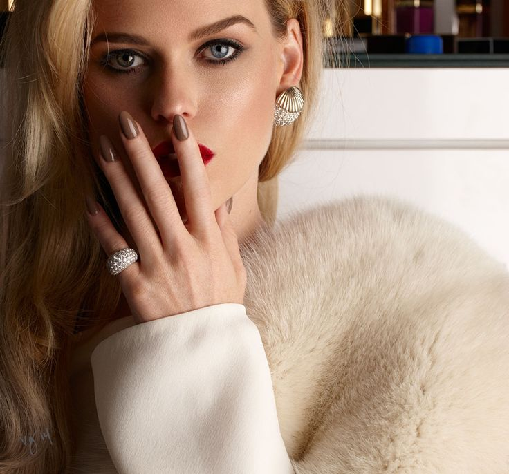 In The Makeup Chair With Alice Eve  |  #VioletGrey, The Industry's Beauty Edit  |  #RGBcosmetics Nail Color in Toast | http://www.violetgrey.com/product/nail-color-creme/RGB-000103