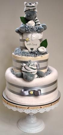 Neutral Nappy Cake/ babycake/ christening gift