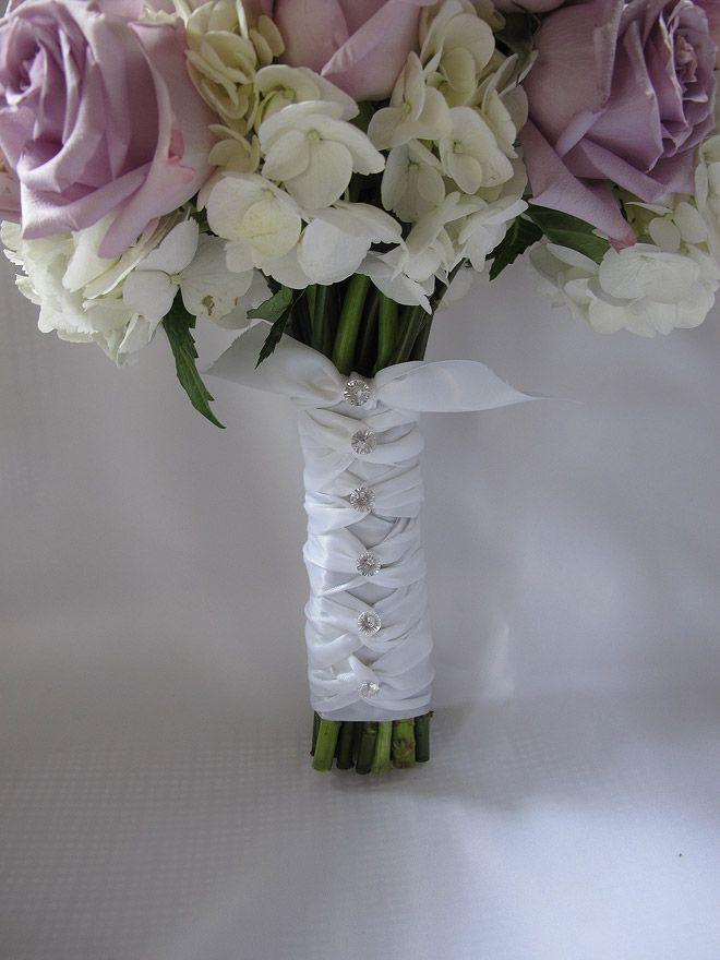 How To Wrap Bridal Bouquet With Ribbon : Images about bouquet handles on wraps