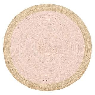 Rug Culture Tortuga Jute Round Rug, Pink