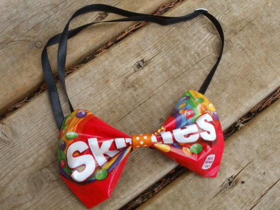 Skittles Upcycled Unique Bow Tie Unusual Gift by LittleTownBelle A unique novelty christmas gift idea, v.reasonably priced!!!