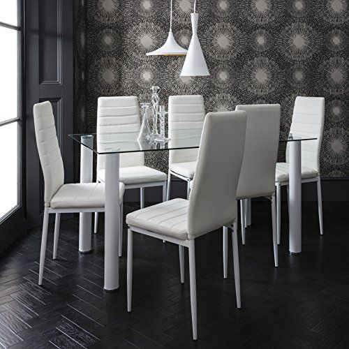 Laura James   Dining Table & 6 Faux Leather Chairs Set   ... https://www.amazon.co.uk/dp/B01MPWYJK2/ref=cm_sw_r_pi_dp_x_IrAnzbX473TAC