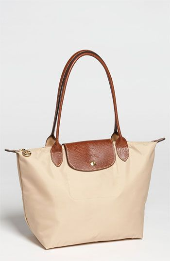 Longchamp 'Le Pliage - Small' Shoulder Bag in Natural | Nordstrom. Please, pleade, please!