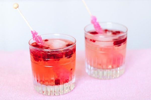 Pretty in pink Champagne cocktail ideas.