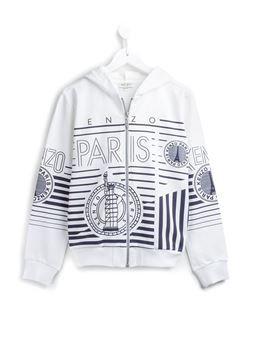 'Paris' zipped up hoodie
