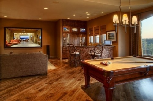 Defined Sitting Bar And Pool Table Areas Ideas For The