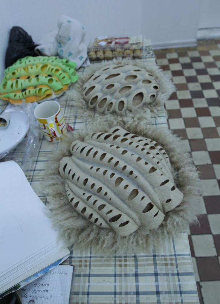 3D vilten - foto's van workshop van Elena Talikov