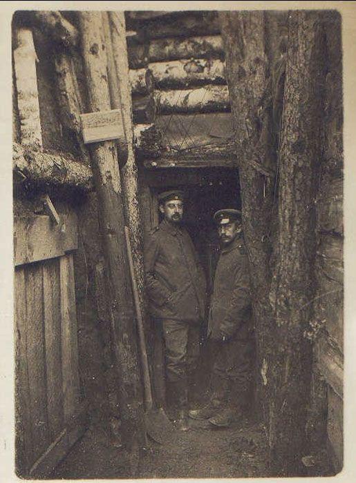 WW1, German trench