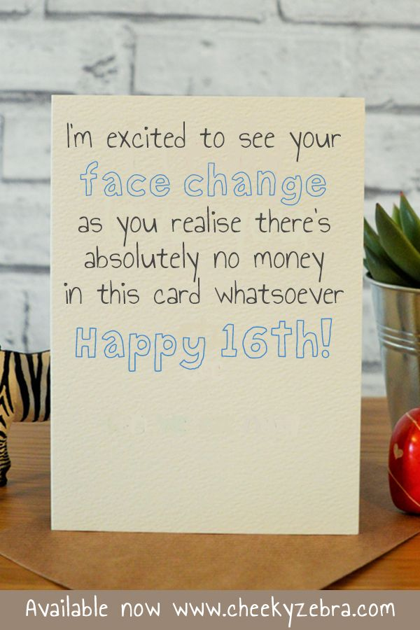 16 Face Change Birthday Cards For Boys 16th Birthday Card Birthday Cards For Friends