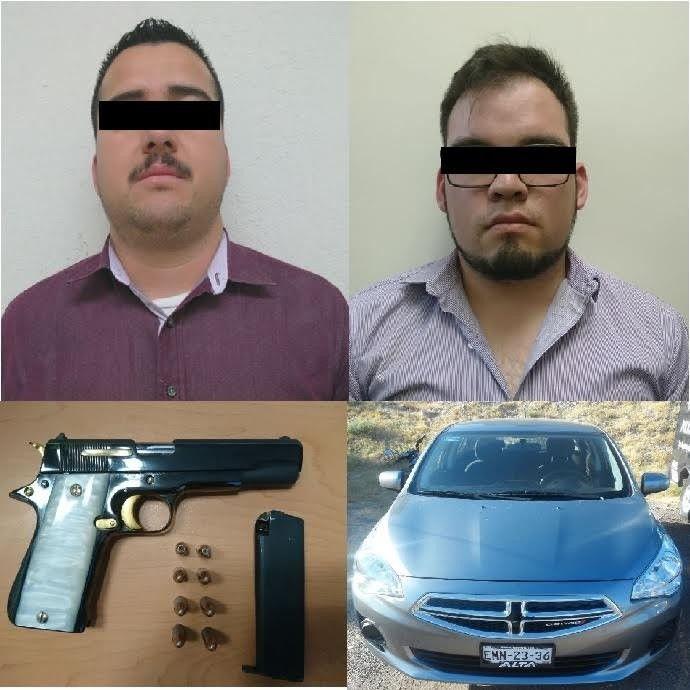 Detienen a dos sujetos armados en el fraccionamiento Haciendas | El Puntero