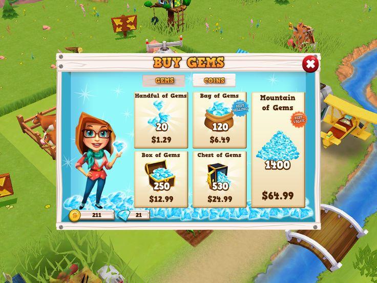 Farm Story 2 | Shop IAP| UI, HUD, User Interface, Game Art, GUI, iOS, Apps, Games, Grahic Desgin, Farm Game, World Building | www.girlvsgui.com