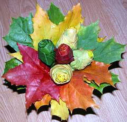 Предлагаем сделать как делать красивые букеты розы из осенних листьев мастер…