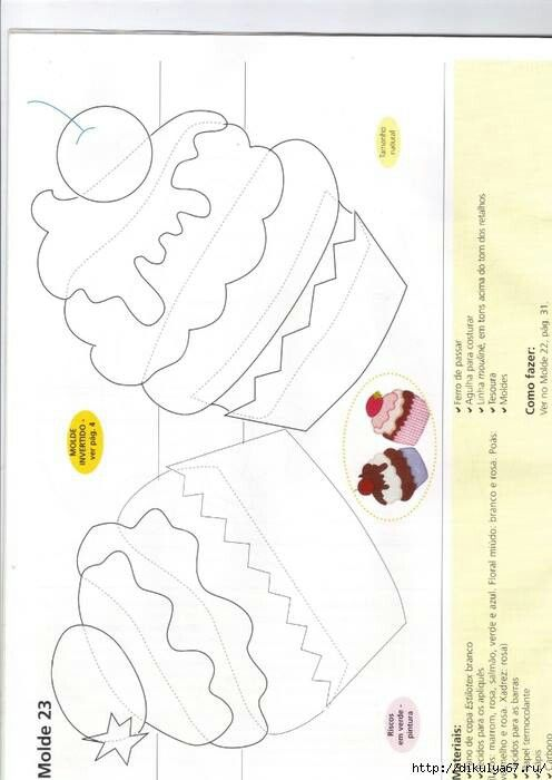 cupcake applique template
