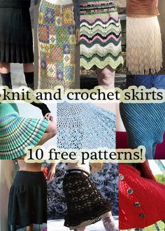 Knit or Crochet a Skirt for Fall! 10 free patterns at mooglyblog.com