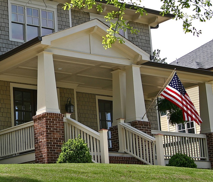 17 best images about front porch ideas on pinterest for Atlanta craftsman homes