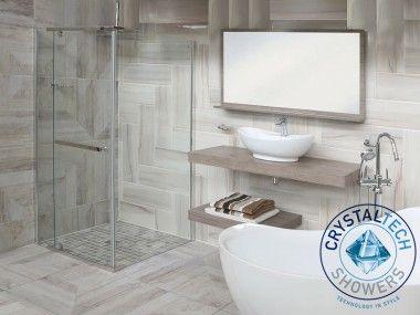 Crystal Tech - Semi Frameless Shower Enclosure Clear Glass - 6011