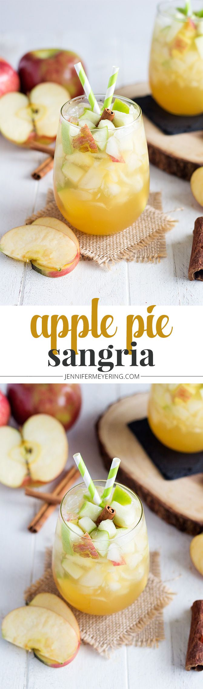 Apple Pie Sangria - JenniferMeyering.com