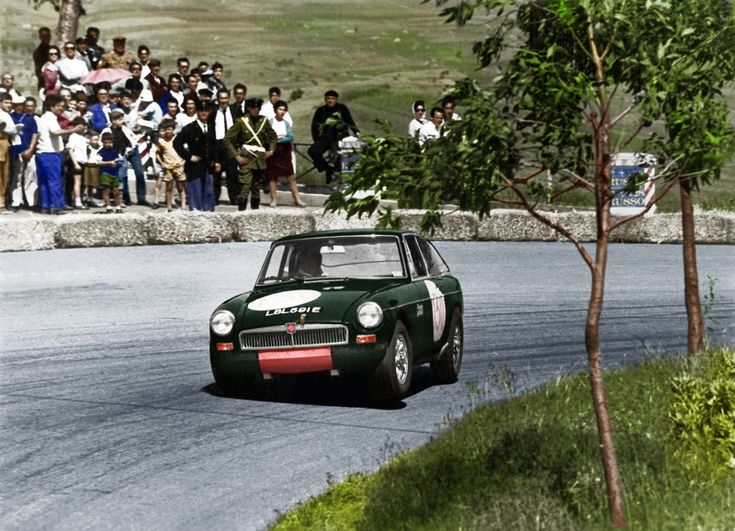 "LBL 591E was the only ""works""MGB GT to leave Abingdon . Original colour was red but for the 1968 Targa Florio it was painted green , was sold by BMC in May 1969 after the Sebring 12 Hr. race for $3.000 , to a new owner in Pennsylvania ... A bargain ."