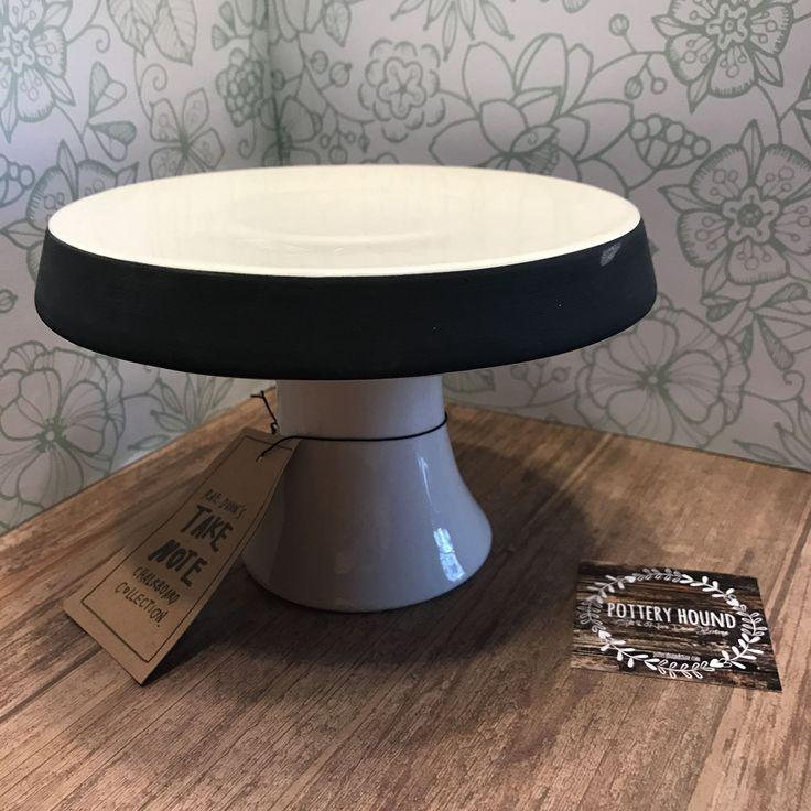 Cake Pedestal w/ Chalkboard Rim