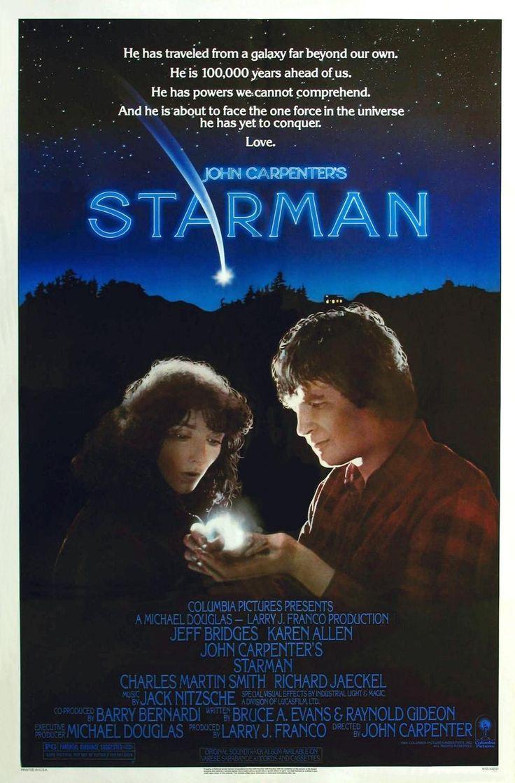"""""""Starman"""" de John Carpenter, programmé le 16/05 à 16h30 et le 21/05 à 21h15 http://www.forumdesimages.fr/les-films/les-programmes/bleu/starman"""