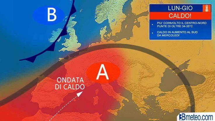 Meteo: in arrivo sull'Italia il caldo africano: da martedì il picco L'apice di questa fase calda sarà raggiunto nella prossima settimana, quando sulle aree interne del Centronord si potranno raggiungere punte di 35-36°C, in particolare sulla Valpadana dove non si esc #meteo #caldoafricano