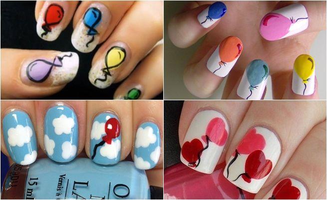 Nail art: manicuras de globos