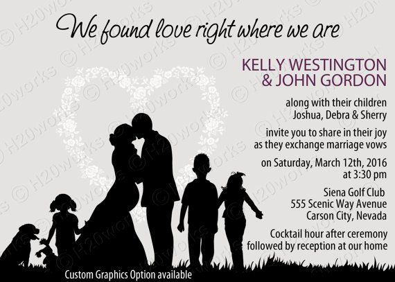 Blended Family Wedding Invitation by H20WhiteLacePromises on Etsy