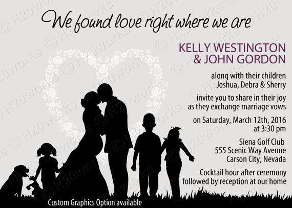 Blended Family Wedding Invitation By H20whitelacepromises On Etsy