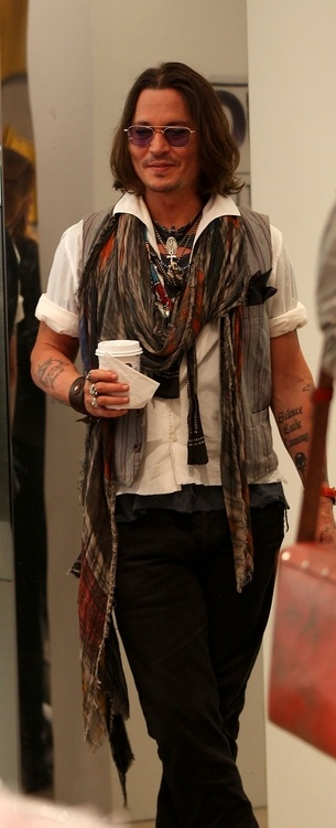 Johnny Depp bringing me coffee... excuse me while I take my clothes off bahaha