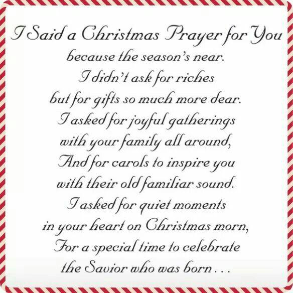 Christmas Prayer.