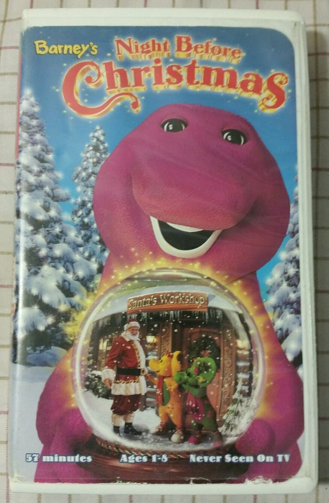Barney's-Night Before Christmas (VHS 1999) Clamshell