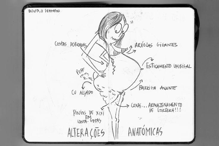 """Grávida pela primeira vez, Vanessa Caeiro decidiu documentar a chegada de Beatriz no diário ilustrado """"280: Odisseia no Útero"""". Um manual de instruções que ainda vai virar filme"""