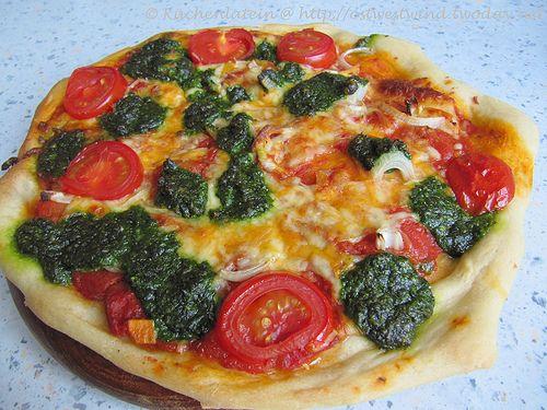 Ferienküche: Bärlauch-Pizza