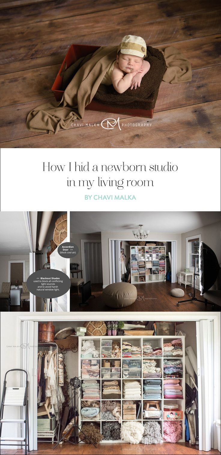 How I Hid A Newborn Studio In My Living Room