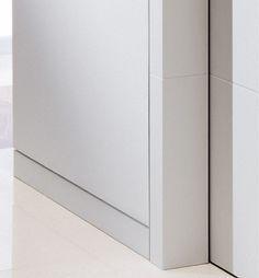 Die Lösung für wandbündige Tür Cube® Randleiste 9 x 100 mm, Mit Wand und Zarge flächenbündig | ® = Musterschutz angemeldet
