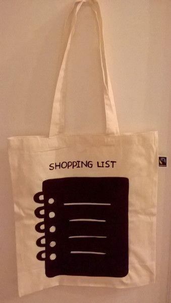 Borse da shopping - Shoppingbag chalkboard-lavagna Fairtrade - un prodotto unico di vestobio su DaWanda
