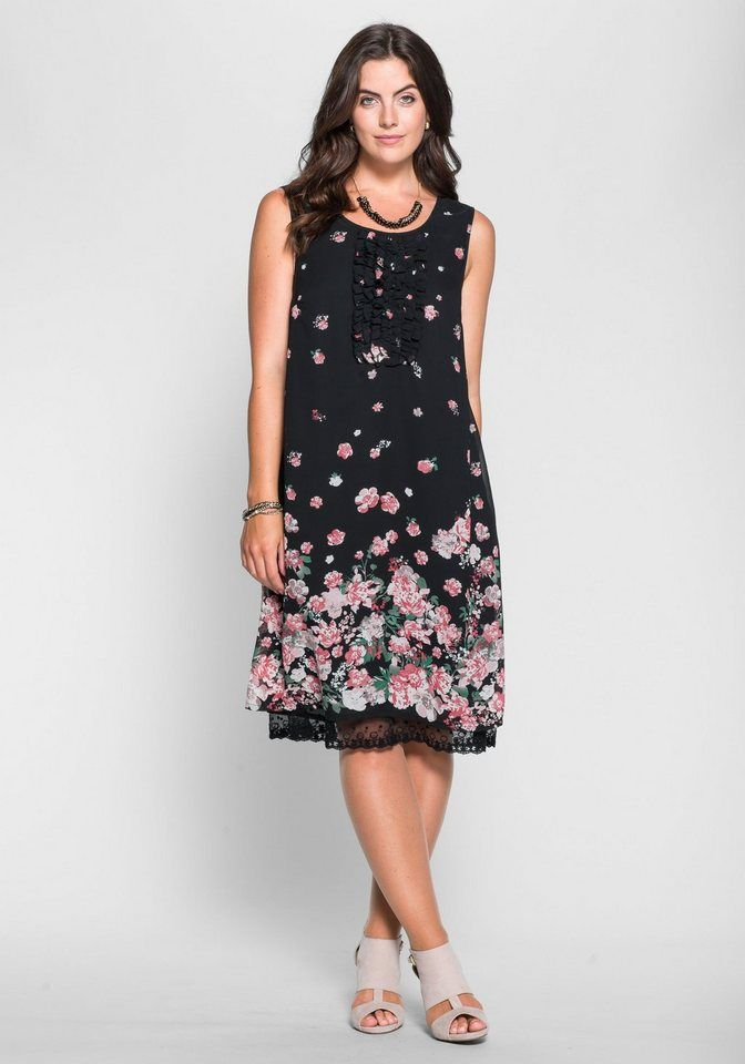 sheego Style Jerseykleid mit Blütendruck