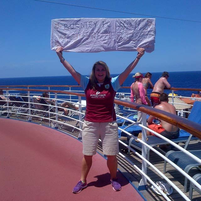 My Burnley Promotion Banner on Deck 14