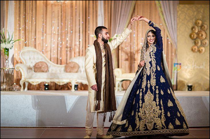 Elegant navy blue pakistani bridal ensemble with ornate work. #pakistanibride #muslimbride via Jamie Howell Photography