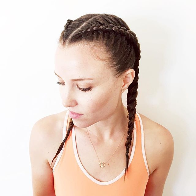 Boxer Braids by @kristin_ess (why isn't there a boxing glove emoji?!)